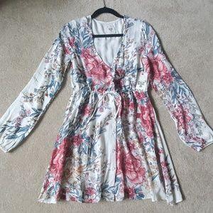 Billabong linen floral dress
